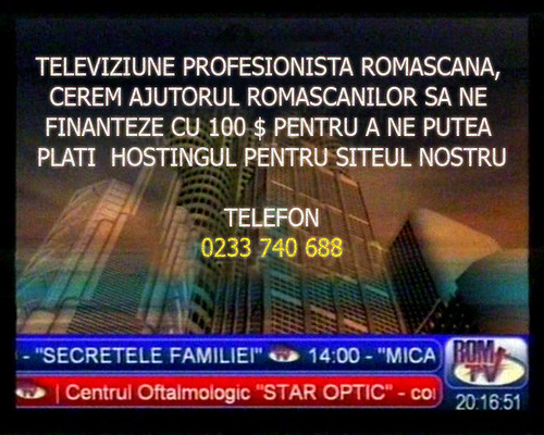 RomTV si profesionalismul