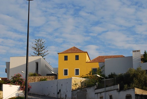 the yellow house and the sky