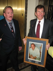 Ron and Rick Osborn hold a photo of their brother Robert