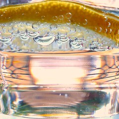 bubbles (gorgeoux) Tags: uk london water glass lemon drink bubbles slice sparkling squared novavitanewlife