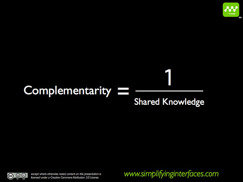 Experts complementary skills equation