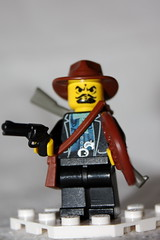 Table Scrap: Cowboy (The Ranger of Awesomeness) Tags: cowboy lego whip wildwest bullwhip brickarms