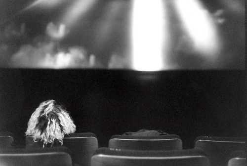 "Alone on the front row"" - in the cinema, Brussels, Belgium 2008 (35mm)"