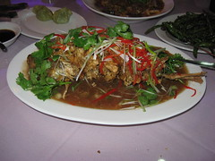 Famous Sichuan: Fried whole fish with sweet and sour sauce