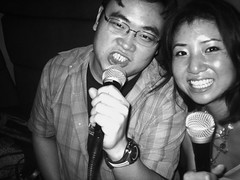 karaoke ghetto: San Diego (this doesnt' compare to karaoke in china - but the friends are wayyy better here!) (Tricia Wang ) Tags: street music studio j sandiego jin gordon karaoke ge convoy triciawang jinge viapixelpipe