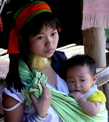 Young Mother And Child Of The Karen Hilltribe, Thailand (Butch Osborne) Tags: travel portrait neck asian thailand reisen asia child earth mother tailandia karen longneck traveling tribe motherhood ethnic lifeisgood soe oat coils bodymodification hilltribes puravida hilltribe deviaje longnecktribe ethnology mustsee padong padaung collo kayan supershot folkclore karenhilltribe digitalefotografie ethnie zarafa paduang mywinners platinumphoto anawesomeshot impressedbeauty  overseasadventuretravel theunforgettablepictures bucketlist goldstaraward collolungo earthasia giraffewomen  overseasadventuretours thesuperstarthebest padaoung