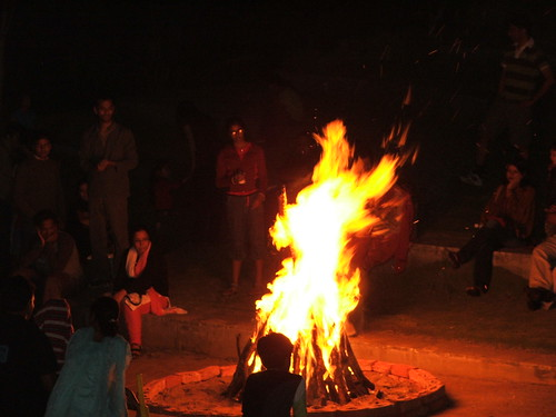 Bonfire at pragati resort