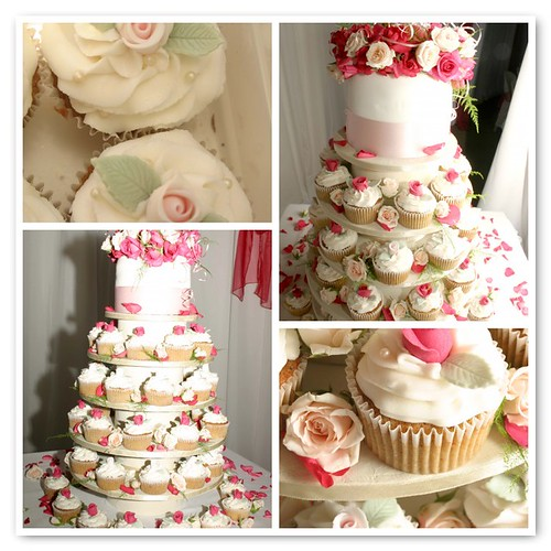 Natasha and Leonard 39s Wedding Cupcake Tower by Gracescakes