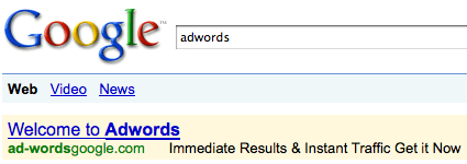 AdWords Phishing Scam