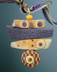 Turkish Delight (julie_picarello) Tags: house yellow beads julie jewelry clay imprint pendant polymer gane mokume picarello