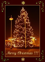 Best greetings for my Flickr friends! :)) (green_lover) Tags: christmas decorations night lights christmastree otw