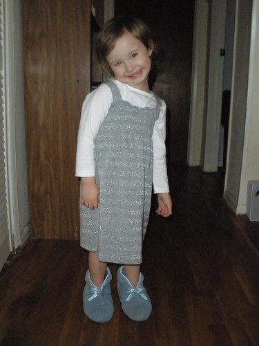 Lorelai models Nana's slippers