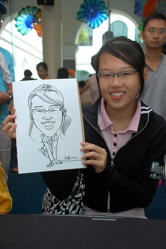 Caricature live sketching at Singapore Art Museum Christmas Open House - 12
