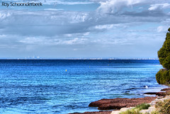 Skyline of Perth viewed from Rottnest Island (Roy Schoonderbeek) Tags: from blue sea roy skyline lens island photo dynamic sony fake perth 200 form mm alpha dslr 18 a200 70 westernaustralia hdr lense rottnest viewed 1870 perthskyline objectief a sonyalphadslra200 schoonderbeek