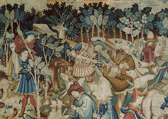 Detail from a Tapestry depicting scenes of a Boar and Bear Hunt, Museum no. T.204-1957.
