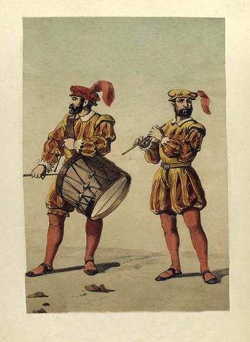 017-Tambor y pifano de infanteria año 1534