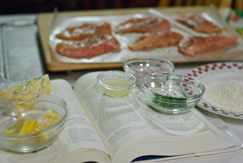 Chicken Piccata: Mis en place
