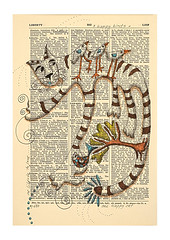 Liberty to Lief (Mariann Johansen Ellis) Tags: ocean original house fish tree bird art water cat river flow reading boat poetry drawing sail dictionary whimsical academic