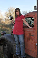 Ashley and 1940s Dodge (Robinsegg) Tags: truck utah ashley dodge murray dodgetruck wheelerhistoricfarm