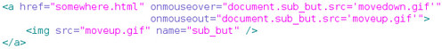 Code snipped for standard way to do mouseover image effects
