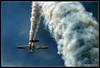 Freedom (Cygnus~X1 - Visions by Sorenson) Tags: blue ohio red summer sky usa white clouds plane canon airplane rebel loop aircraft smoke airshow explore inverted 2008 propeller hdr prop dayton aeroshell aerobatic vandalia ef70200mmf28lisusm 1exp xti vectren craigsorenson 48h872v62c98fexp002