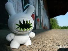 makalibudunny (makalibuland) Tags: street urban art graffiti hand lego designer handmade painted vinyl resin limited flocked arttoys artoy makalibuland