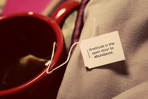 Gratitude reminder fro my Yogi tea