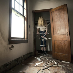 When Things Got Hung Up... (Rob Woodcox) Tags: wood city building abandoned up mi paint emotion decay michigan detroit cement surreal chips creepy morbid conceptual wandering hangers hung urbanexploring urbex robwoodcox robwoodcoxphotography