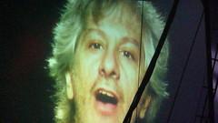 Lee Renaldo on screen (Big Marvin) Tags: london concert widescreen gig livemusic 2008 169 cribs brixton sonicyouth nme brixtonacademy sw9 thesmiths nmetour thecribs johnnymarr leerenaldo nmeawardstour ryanjarman lastfm:event=414451