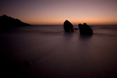 One becomes Two (Myles Smith) Tags: ocean uk sunset sea two seascape beach water one rocks purple south magenta smith pebble devon divorce myles split loner seperation breakup hams southhams canon400d mylessmith pffffffffffffftlolbradwannabe