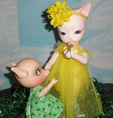 Share Please (emerald's dragon) Tags: pink cats st cherry pig hoodie doll day blossom alice gothic kitty baha particks pippos alicecherryblossom