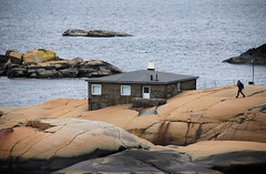 Stone summer home (AstridWestvang) Tags: sea house man stone coast rocks birdwatcher larvik svaberg tjlling