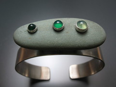 Floating Pebble Cuff