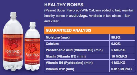 FortiFido: Fortified Water for Dogs > Peanut Butter