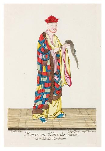 Bonzo o sacerdote de los idolos en traje de ceremonia