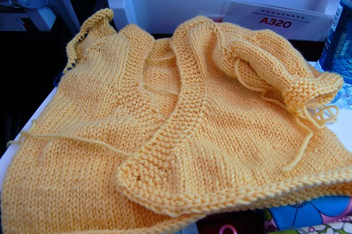 airplane knitting