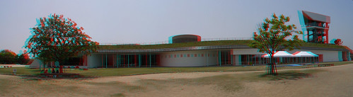 3D-Panorama兵庫県立考古博物館-anaglyph-Hyogo Prefectual Museum of Archaeology-R0012665-R0012670