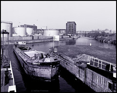 'Eskdale' on Aire & Calder Navigation ('Ade') Tags: river leeds aire barge rz67 panf perceptol hunslet hunsletmills