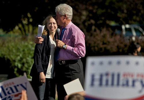 Photos: Chelsea And Bill Clinton Campaign For Hillary
