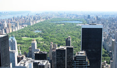 Central Park (Dan_DC) Tags: nyc newyorkcity panorama newyork green skyline outdoors vanishingpoint cityscape skyscrapers centralpark manhattan scenic midtown bigcity citypark greenspace centralparkreservoir solowbuilding 9west viewfromrockefellercenter