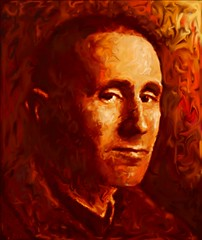 Bertolt Brecht (1898-1956) (Shubnum Gill) Tags: portrait people india berlin art germany painting book theatre delhi protest communism cover german poet worker plays drama marxism hindi brecht galileo alienation playwright bertolt mothercourage thecaucasianchalkcircle shubnumgill