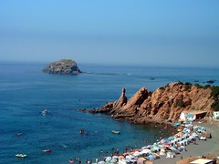 Plage bleu - Alger (intasko) Tags: blue camping sea summer mer praia beach algeria sable playa bleu algerie blida plage medea alger mditerrane seablue tipaza algier cherchell algerois plagebleualger ezzahi intasko