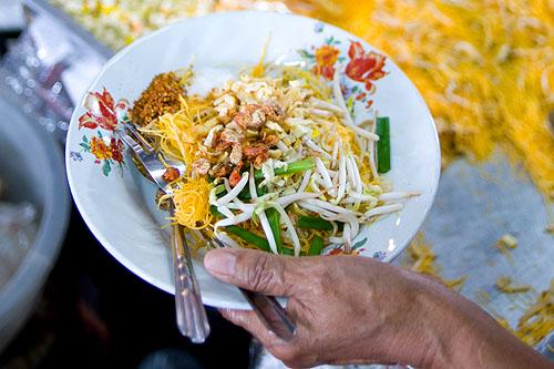 Mee kathi, an old-school Thai noodle dish, Nang Loeng Market, Bangkok