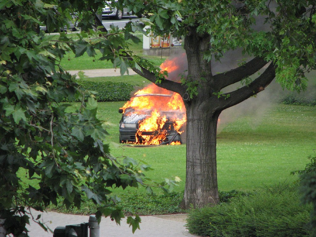 Burning BMW