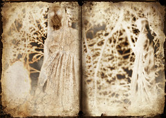 the fates (B.S. Wise) Tags: california ca tree art cemetery grave statue forest project greek book design photo graphic ghost surreal photograph beyond mountainview piedmont myth spectre gravesite bradwise spook bradswise mortuary fates threefates bswise