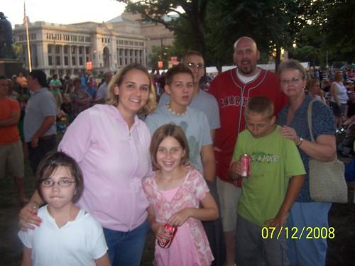 Sandy, Scott, kids, and Weezie