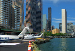 eastriver heliport (Asen Todorov) Tags: nyc newyork 35mm manhattan sunny clear helicopter eastriver rotor d80
