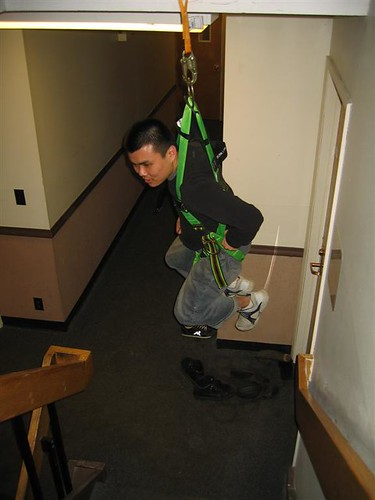 A-LAN getting his harness swing on