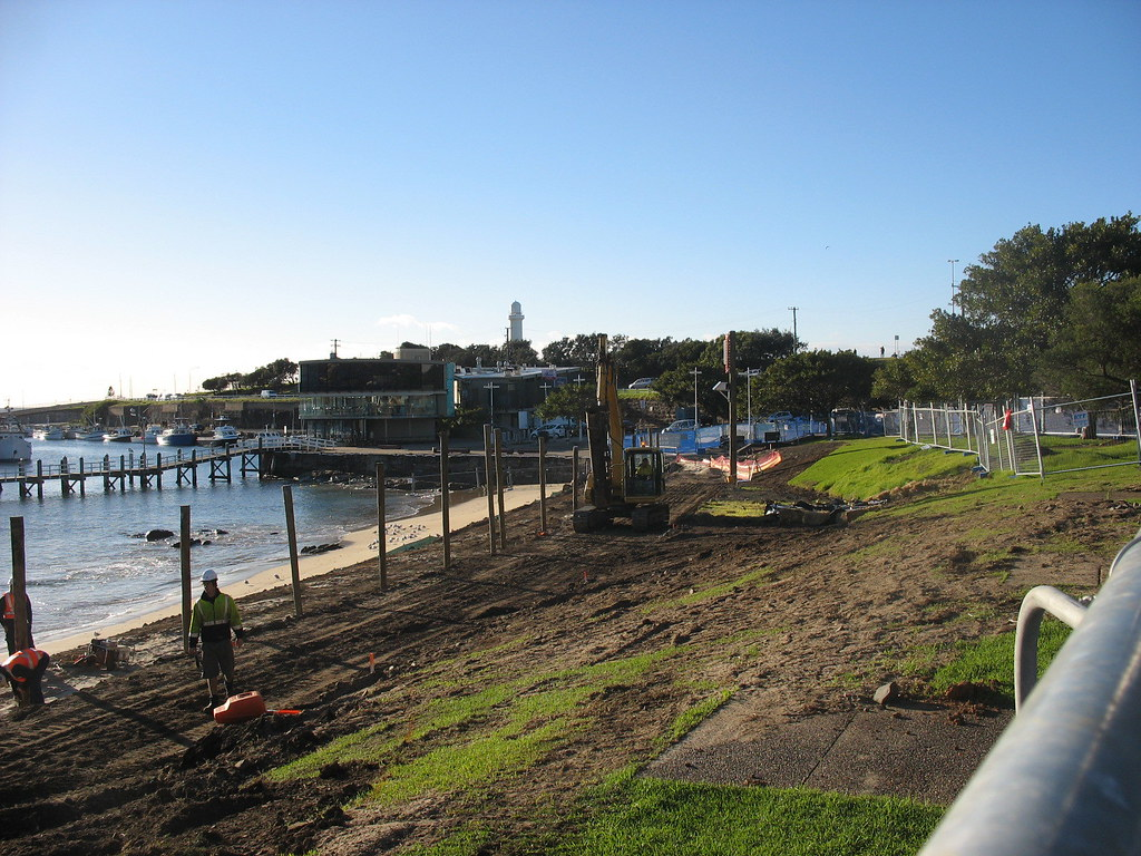 Wollongong City Library Photographs - Blue Mile Construction
