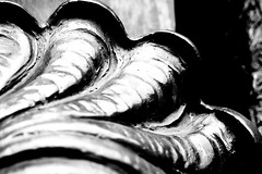 Shell (LygeiaLupin) Tags: door light shadow bw metal handle licht shell sw winding metall schatten türgriff platinumphoto